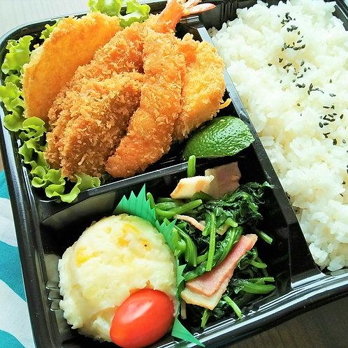 4月19日(金)ミックスフライ弁当 + 味噌汁