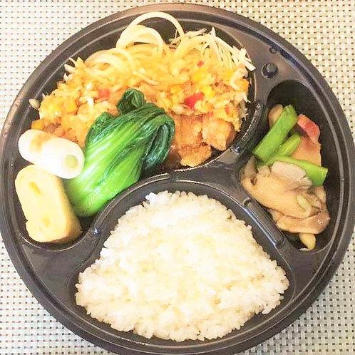 6月11日(火)油淋鶏弁当 + 味噌汁