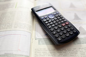 calculator on books
