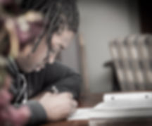 black student studying