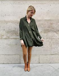 chemise 51258 kaki + jeans h2419-1 camel