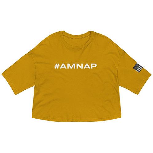 #AMNAP Loose drop shoulder crop top