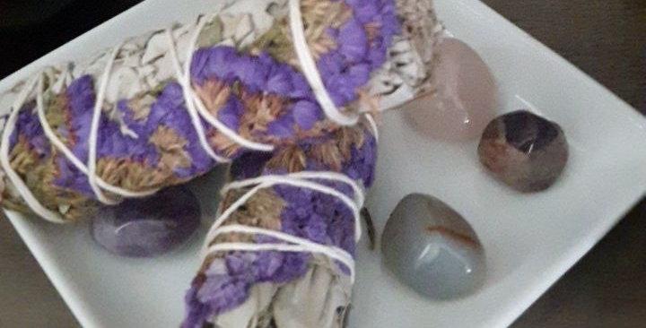 Purple Sinuata White Sage