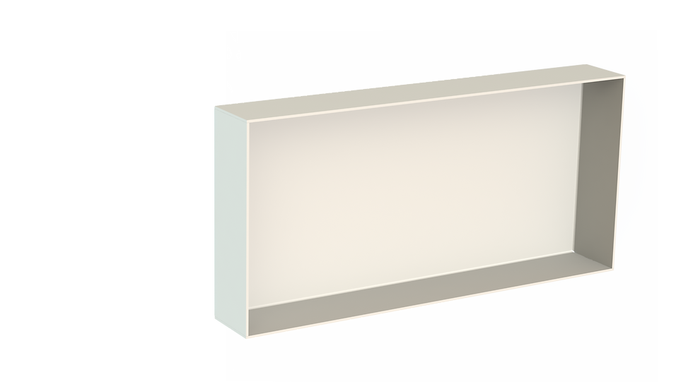 Aluminium Bathroom Niche -  Powdercoated