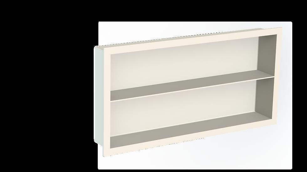 Aluminium Bathroom Niche with Shelf & Flange - Powdercoated