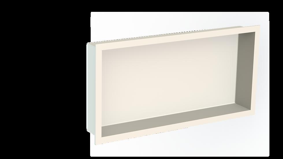 Aluminium Bathroom Niche with Flange -  Powdercoated