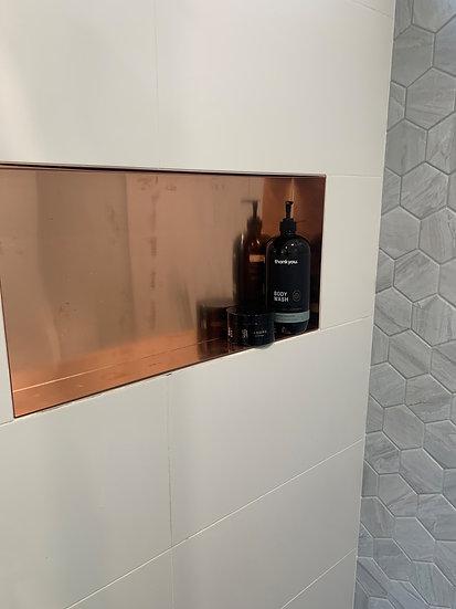 Copper Bathroom Niche