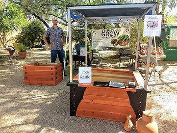 Farmer Market, Urban Gardens Festival, Thrive and Grow Gardens, garden beds, vegetable gardening, raised garden beds, potato box