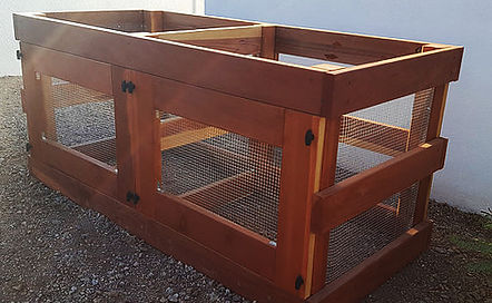 composter, thrive and grow gardens, redwood composter, double bin composter, compost, composting