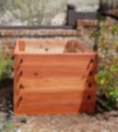 potato box, redwood potato box, thrive and grow gardens