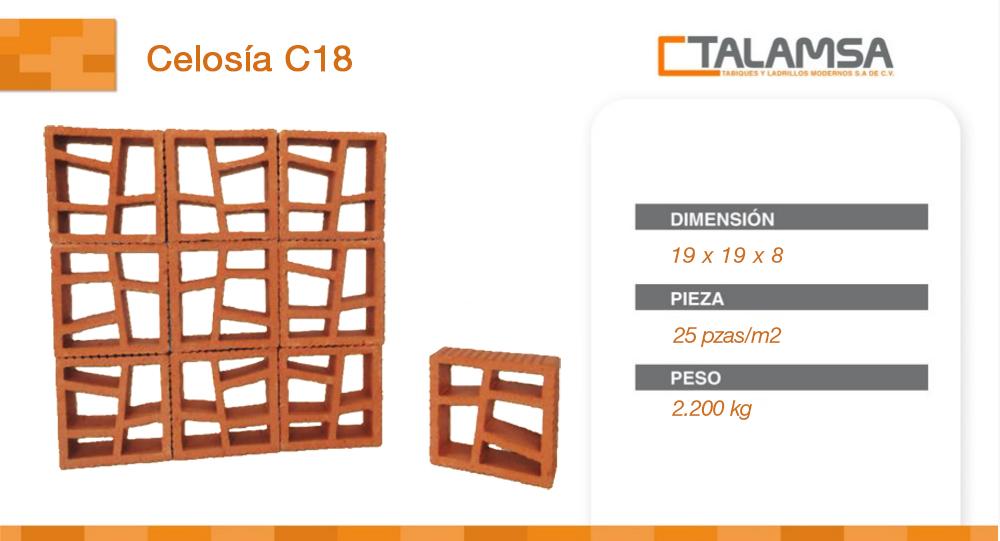 Celosía C18