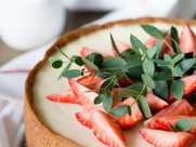 Kuchen mit Erdbeeren