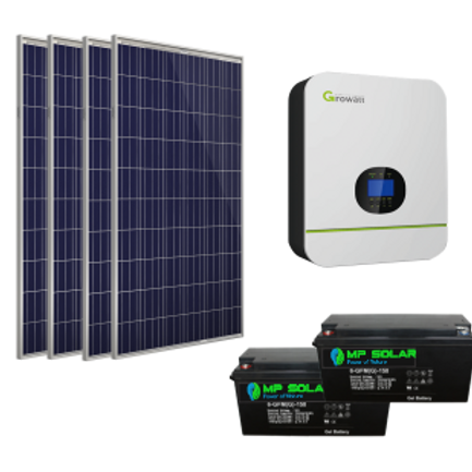Starter Package -3kW Inverter 4.8kW Power Bank 9.2kW Day PV