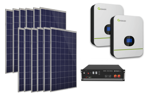 Professional Li+ Package -10kW Inverter 9.6kW Power Bank  41.2kW Day PV