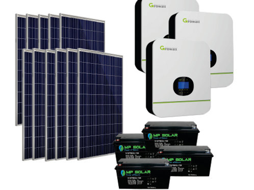 Premium Package -15kW Inverter 19.2kW Power Bank  62kW Day PV