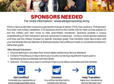 Sponsors Needed for Service Members