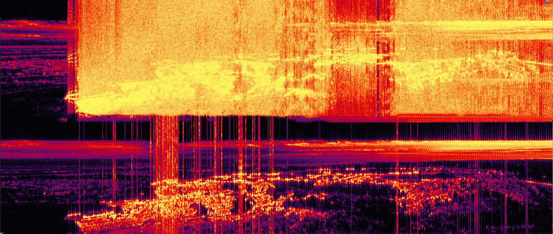 עידן גור, מצדה, המרת תמונה לסאונד, 100 סמ X 235 סמ, הדפס דיו ארכיוני, 2013.jpg