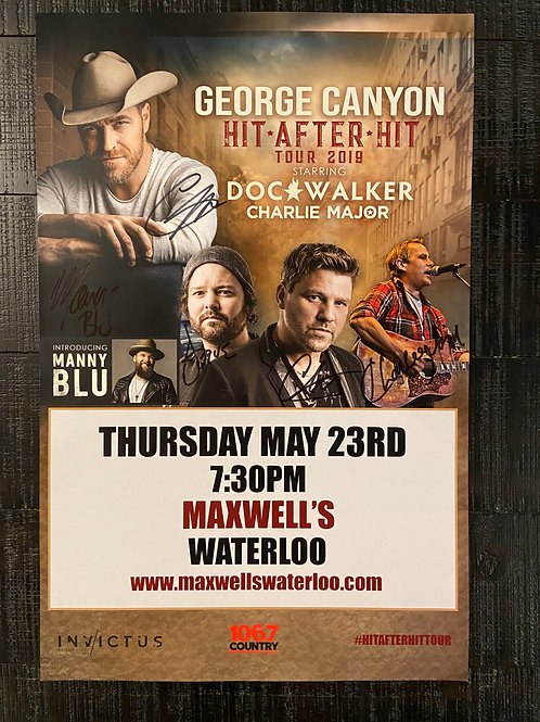 George Canyon, Doc Walker & Charlie Major 2019 - Signed