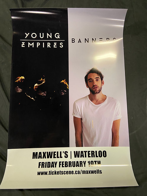 Young Empires & Banners 2016 Large Window Display Poster - Curbside Pickup Only