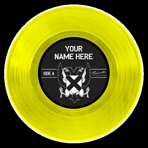 GOLD Custom 12 inch vinyl record wall decal