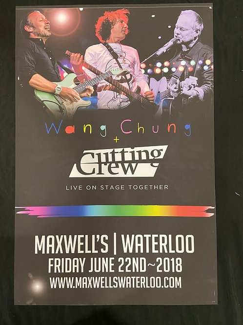 Wang Chung & Cutting Crew - Large Window Display Poster - Curbside Pickup Only