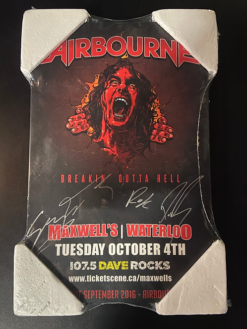Signed Plaque - Airbourne 2016