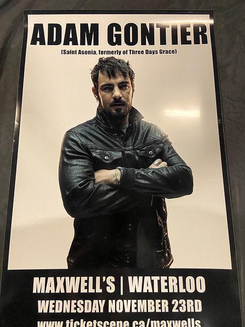 Adam Gontier 2016 - Original Large Window Display Poster - Curbside Pickup Only
