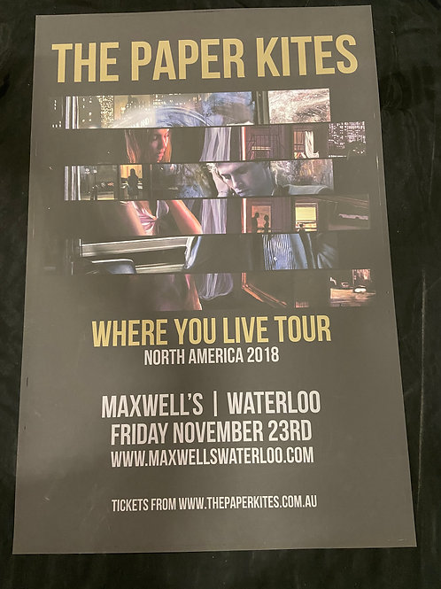 The Paper Kites 2018 - Large Window Display Poster - Curbside Pickup Only