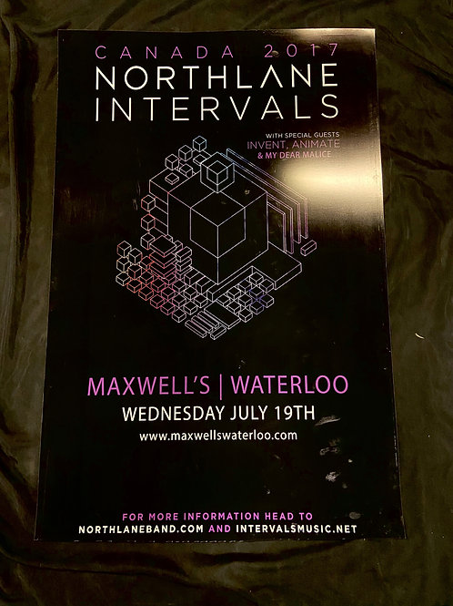 Northlane & Intervals 2017 Large Window Display Poster - Curbside Pickup Only