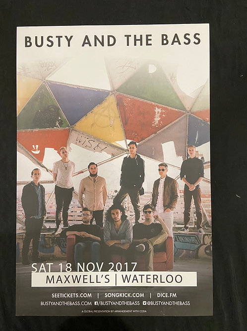 Busty & The Bass 2017 - Large Window Display Poster - Curbside Pickup Only