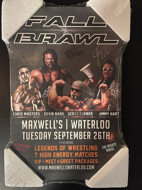 Signed Plaque - Kevin Nash, Scott Steiner, Jimmy Hart & Chris Masters 2017