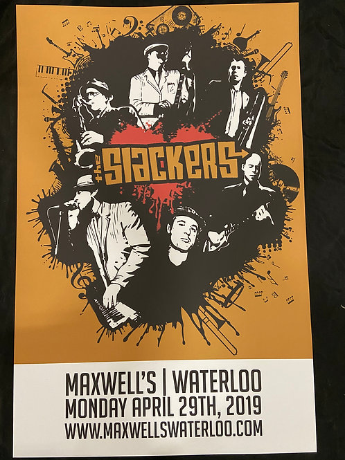 The Slackers 2019 - Large Window Display Poster - Curbside Pickup Only