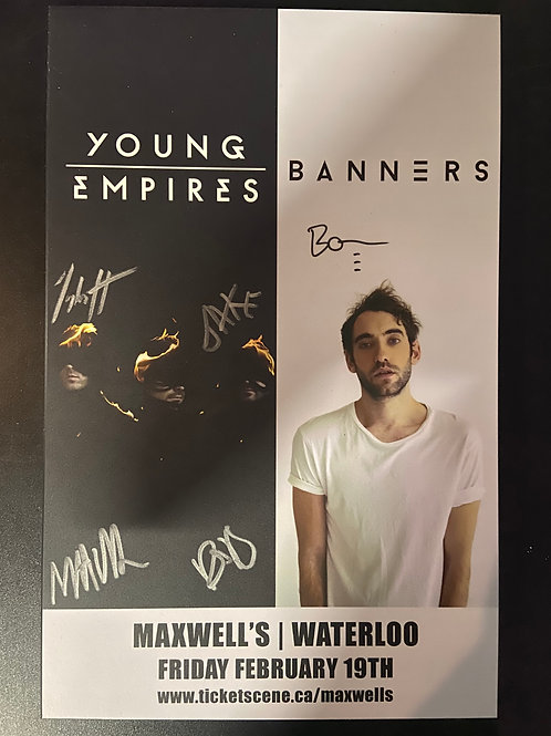 Signed Plaque - Young Empires & Banners 2016