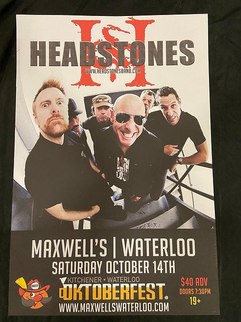 Headstones 2017 - Original Large Window Display Poster - Curbside Pickup Only
