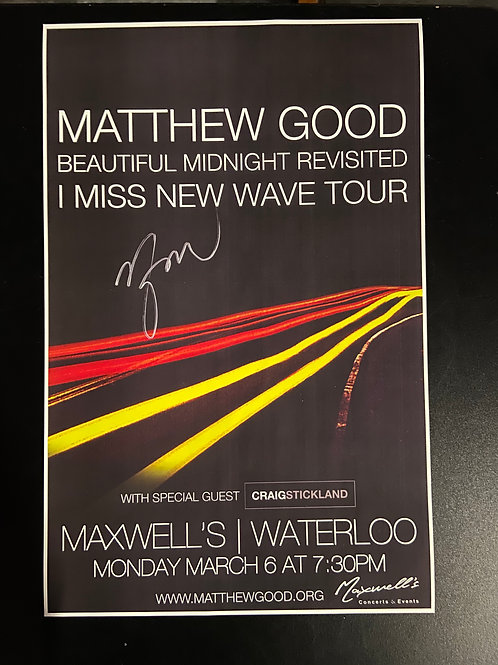 REPLICA - Matthew Good 2017 - Signed