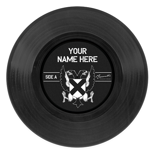 BLACK Custom 12 inch vinyl record wall decal