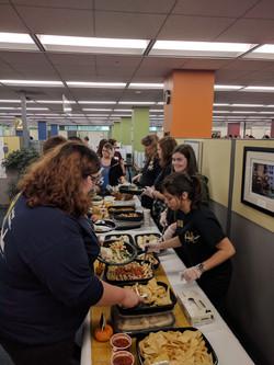 Lunch sponsored by Applebee's