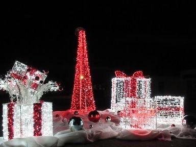 cadeau lumineux , Honfleur, Pont de Normandie, Noel, illumination