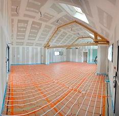 Plancher chauffant installé par Bosquer Electricité   Pont audemer pour un accueil éducatif