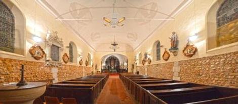 lustre chauffant église en normandie , émetteur infra rouge