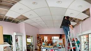 installation spot dans faux plafond  pour salon de beauté à pont-audemer