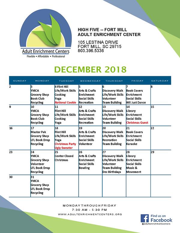 FM High Five Calendar December 18 2018_1
