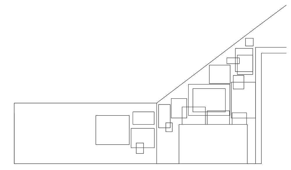 autocad layout of gallery wall