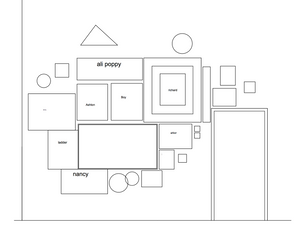 autocad drawing of gallery wall