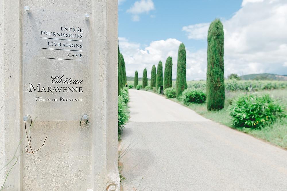 entrée du Château Maravenne, La londe les maures