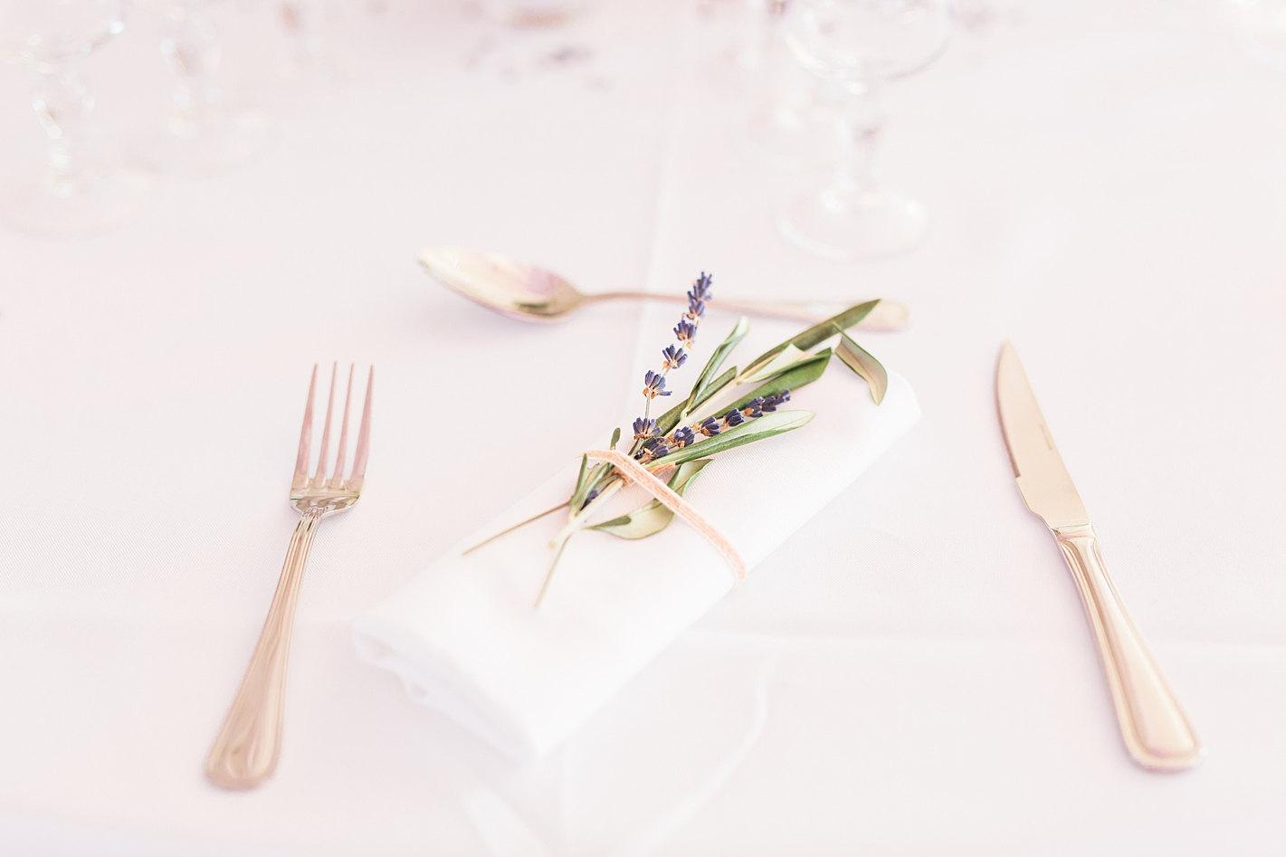 Détails décoration table mariage