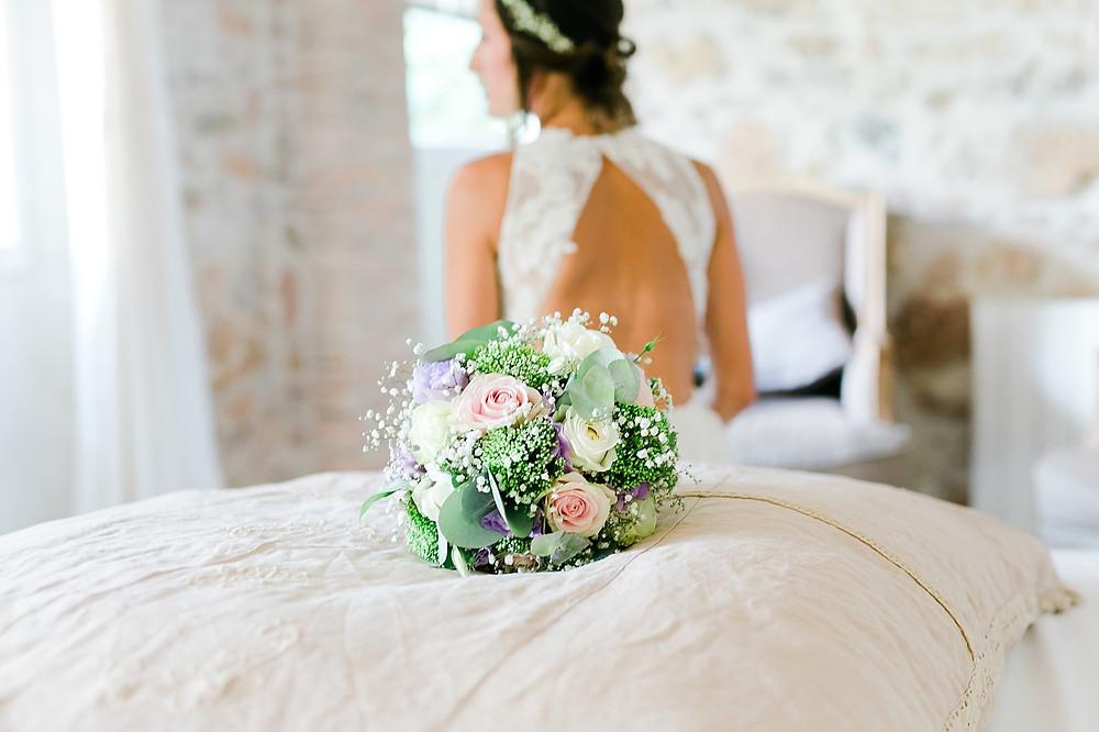 bouquet de mariee au Domaine Saint-Martin, Flassans sur Issole
