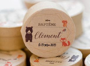 Baptême de Clément, un petit garçon espiègle...