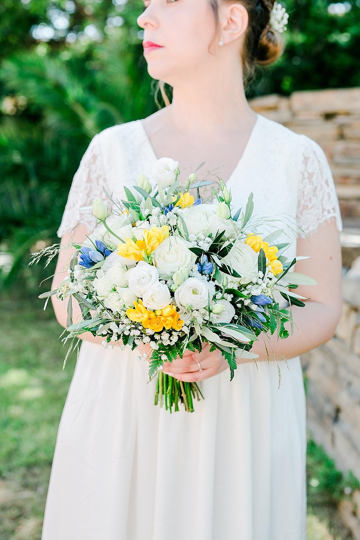 bouquet de la mariée style fine art au Château Maravenne, La londe les maures
