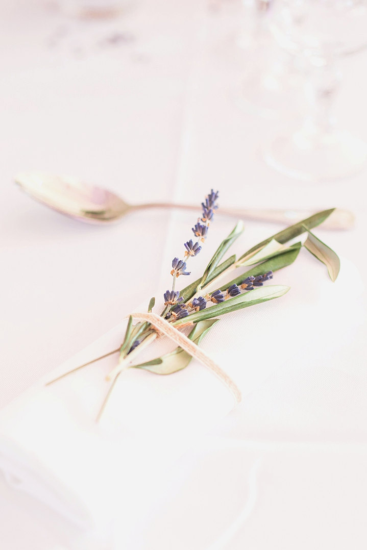 Détails de table de mariage
